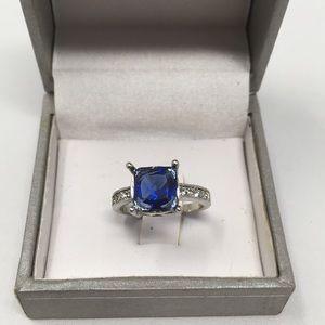 Beautiful blue purple stone ring 925 silver